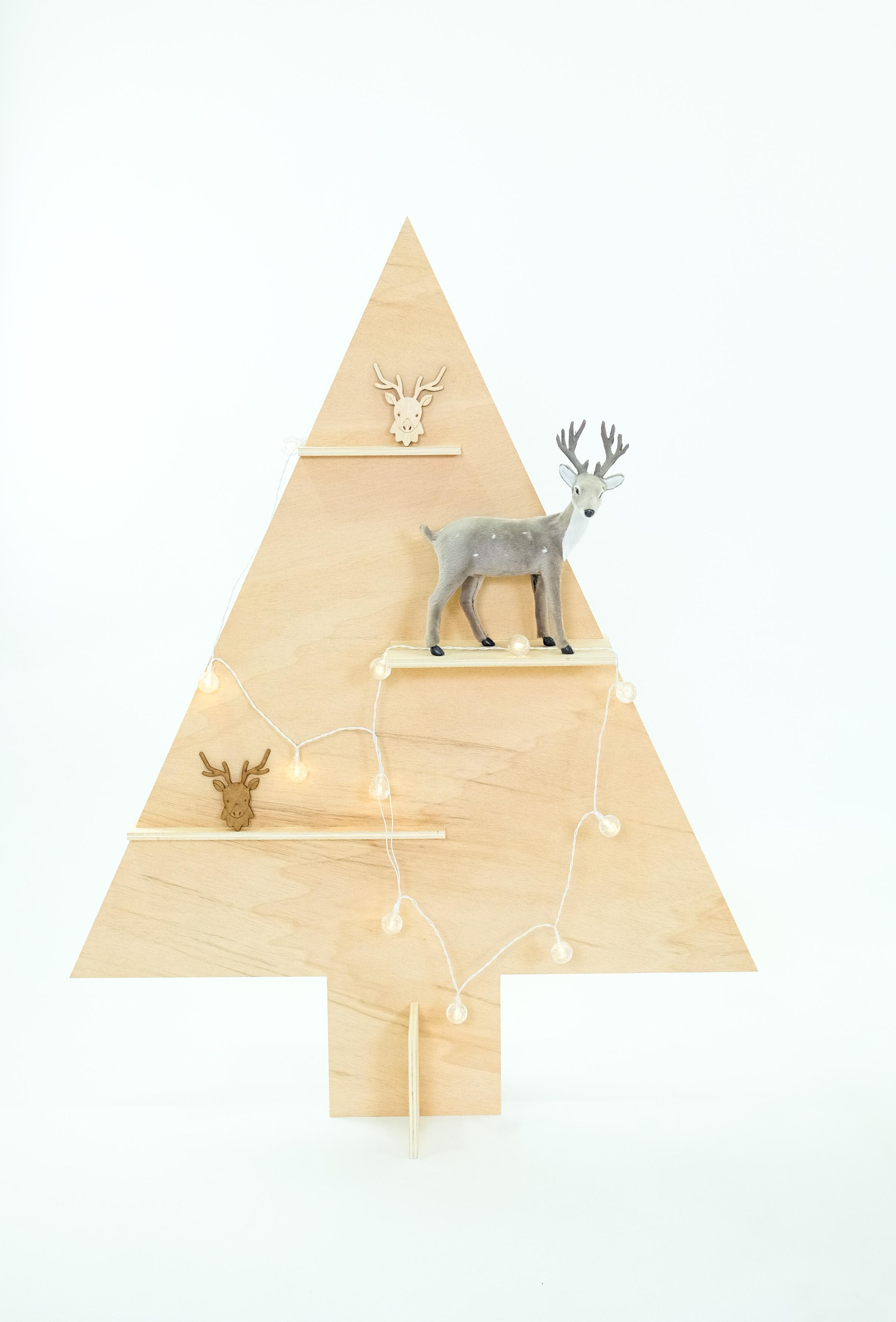 Árbol navidad en madera